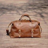 Large Genuine Leather Holdall