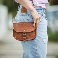 Leather Shoulder Bag, Gold