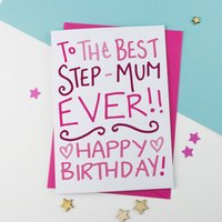 Birthday Card For Step Mum