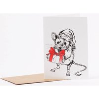 Santa Mouse Christmas Card