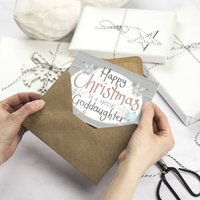 Happy Christmas Goddaughter Card