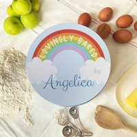 Personalised Rainbow Circle Cake Tin