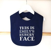 Personalised 'Hungry Face' Baby Bib