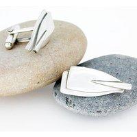 Rowing Oar/Paddle Silver Cufflinks, Silver