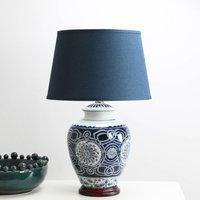 Blue Porcelain Patterned Table Lamp