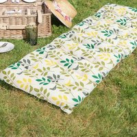 Botanical Leaf Patterned Garden Bench Cushion