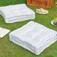 Oxford Stripe Picnic Floor Cushions