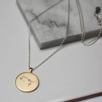 Constellation Necklace With Diamonds Gemini Star Sign