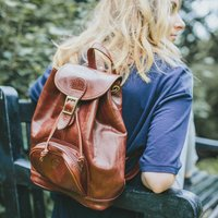 The Finest Italian Leather Backpack. The Sparano, Chestnut/Tan/Dark Chocolate