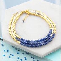 Fine Jewellery Nugget Sapphire Birthstone Bracelets, Blue
