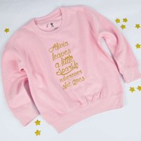 'She Leaves A Little Sparkle' Personalised Sweatshirt