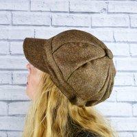 Brown Yorkshire Tweed Baker Boy Hat