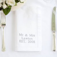 Personalised Linen Napkin With Up To Eight Words