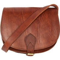 Sam Saddle Bag, Tan/Chocolate/Black