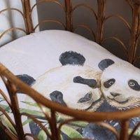Organic Panda Muslin Swaddle Set