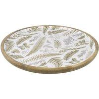 Fern Leaf Mango Wood Platter