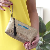 Personalised Glitter Evening Bag