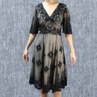 1930s Vintage Look Lace Dress With Sleeves