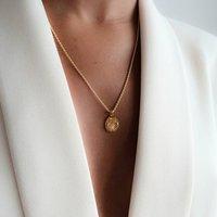 Tibia Art Deco Gold Plated Choker, Gold