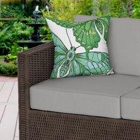 Green Butterflies Water Resistant Outdoor Cushion