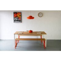 Dining Table, In Oak, Square Legs, Choice Of Colours
