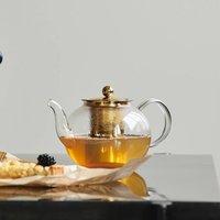 Gold And Glass Tea Pot