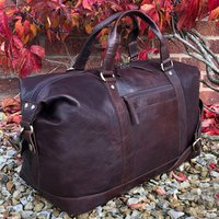 Luxury Buffalo Leather Travel Bag, Holdall, Gym Bag