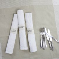 Personalised Scandi Linen Napkins With Name