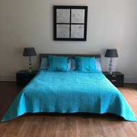French Hand Stitched Bedspread And Cushions