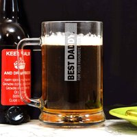 Fathers Day Personalised Glass Tankard