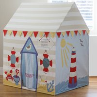 Large Childrens Beach Hut And Seaside Play Tent