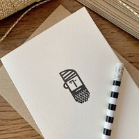 'Bearded Hipster' Letterpress Card