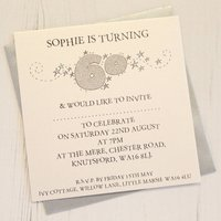 Personalised Pack Of Age Party Invitations, Silver/Gold