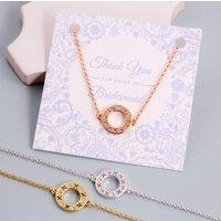 Bridesmaid Gift Circle Xoxo Bracelet, Silver/Jet/Rose Gold