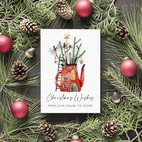 Christmas Teapot Christmas Card
