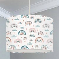 Rainbow, Heart And Cloud Lampshade