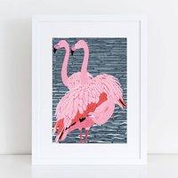 Flamingo Trio Art Print