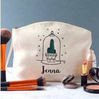 Personalised Cactus In Dome Make Up Bag