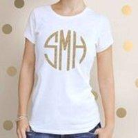Personalised Glitter Monogram T Shirt