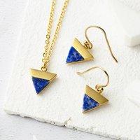 Lapis Gold Jewellery Set, Gold