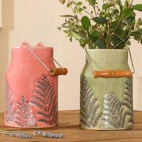 Ribblesdale Fern Ceramic Churn Ornaments