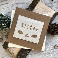 Sister Felt Christmas Card