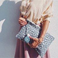 Oversize Boho Travel Clutch Bag