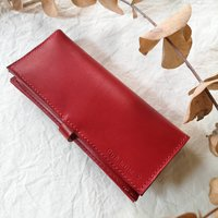 Leather Bifold Purse With Zip