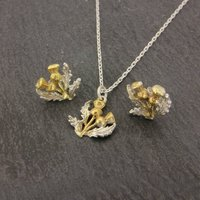 Thistle Necklace And Earrings Set