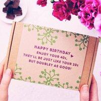 40th Birthday Body Scrub Personalised Gift