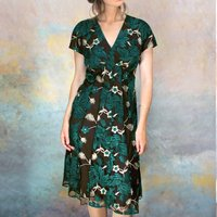 Embroidered Winter Pine Lace Party Dress