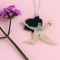 Nude Running Lady Necklace
