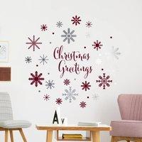 Christmas Greetings Snowflakes Vinyl Decal Set