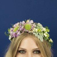 Dusty Miller Crown, Purple/Blue/Pink